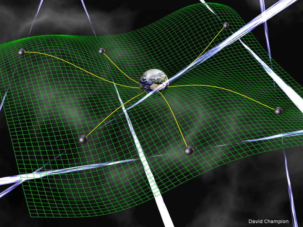 Las ondas gravitacionales deforman el continuo espacio-tiempo