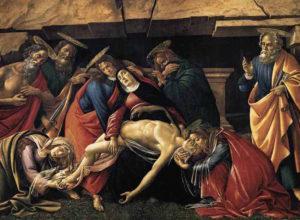 Lamento sobre cristo muerto de Botticelli