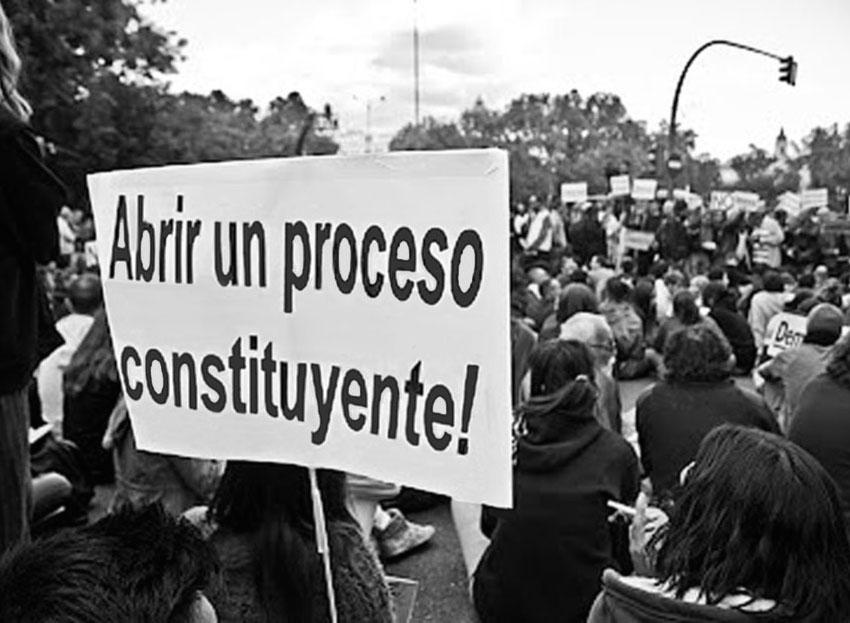 Manifestación por un proceso constituyente