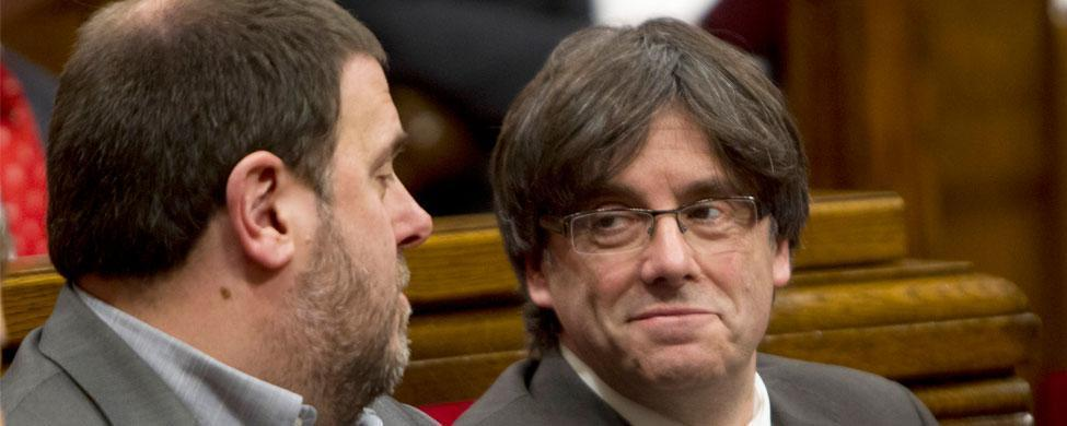 Oriol Junqueres (ERC) y Carles Puigdemont (CDC)