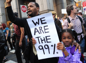 Pancarta We are the 99%