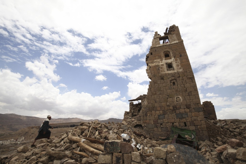 yemen-civil-war-destroyed-house