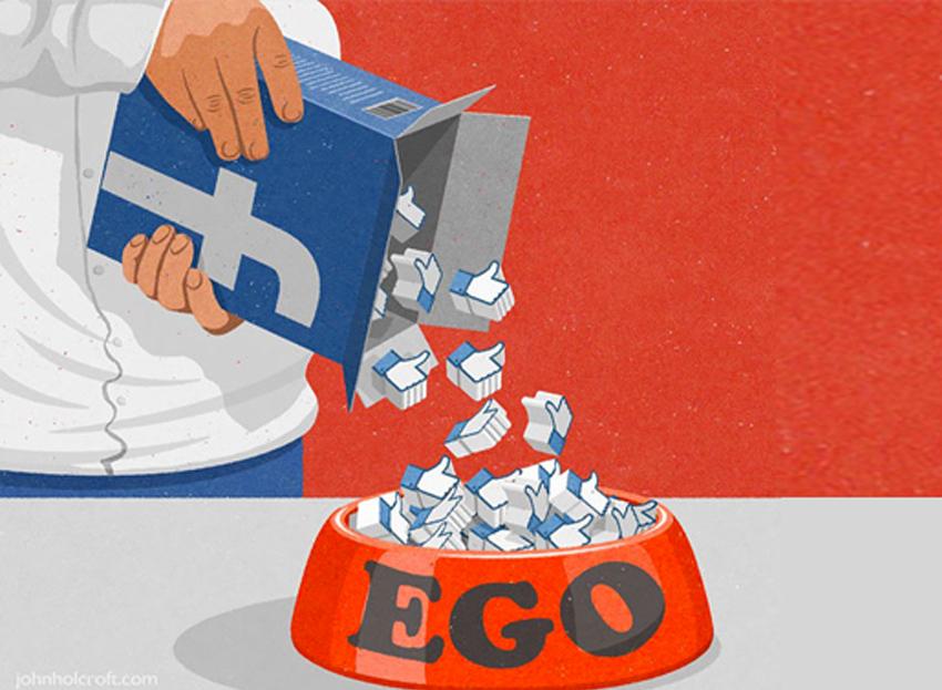 Viñeta ego Facebook