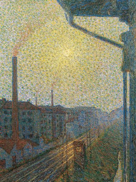 Luigi Russolo Periferia-lavoro [Periferia-trabajo], 1910