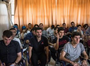 Estudiantes en el Kurdistán sirio